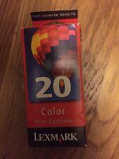 NIB Color Printer Cartridge Replacement LEXMARK #20 Ink Factory Sealed Box
