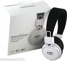Nia mrh-8809 MICRO SD / RADIO FM / MP3 Player Cuffie Stereo con Microfono Whiteblack