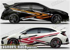 Honda Civic Rally 022 racing motorsport graphics stickers decals vinyl