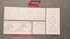Fascia listello ceramica gres porcellanato su rete onda beige 15x30 prima scelta