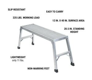 NEW 40 In. Lightweight Aluminum Work Platform  Holds 225 Pounds FREE SHIPPING