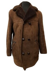 Vintage Sheepskin Coat Size Large 44 Chest Specialist Dry Cleaned