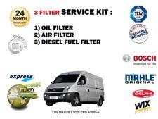 LDV MAXUS 2.5 CDi CRD 4/2005-> NEW OIL AIR FUEL FILTER ( 3 ) SERVICE KIT