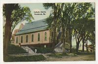 Catholic Church WESTBROOK ME Vintage Cumberland County Maine Postcard