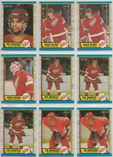 1989-90 O-Pee-Chee DETROIT RED WINGS Team Set / Lot - 23 Hockey Cards - OPC
