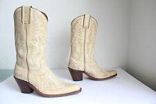 Sancho hand made Western Cowboy High Boots Stiefel Echtleder Beigetöne Eu:37