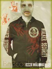 Walking Dead Hoodie Zombie Walker Security Crossed Guns Mens XL Ships Fast