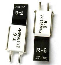 RC R/C Remote Control 27 MHZ 27.195 AM Crystal TX & RX Black