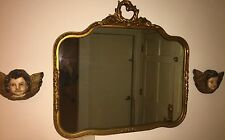 "Antique Mirror Curved Gilt Wood Frame 36x33"" Gd/Cond L.A,Calif. pickup/delivery"