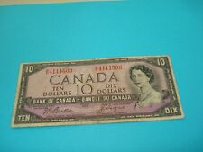 1954 - Canada $10 bank note - Canadian ten dollar bill - RD4111503