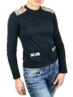 BURBERRY LONDON women's black nova check long sleeve t-shirt | Size M