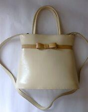 Sac à main - Petit sac à main aspect cuir carré beige et ivoire (1701028)