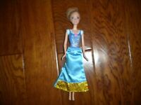 Mattel 2012 Disney Cinderella Princess Doll Blue Bodice & Skirt