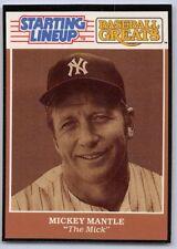 "1989  MICKEY MANTLE - Starting Lineup Card - ""Baseball Greats"" -NEW YORK YANKEES"
