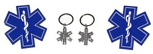 EMS Key Chains and Decals (4 Piece Twin Pack)