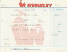 Gloria Estefan & Miami Sound Machine concert ticket stub 1989 Wembley Arena