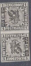 "Bergedorf, Sc#2, Mi#2KZS, VFMOG, Gutter-Pair, Inverted, Signed ""Kossak"", Germany"