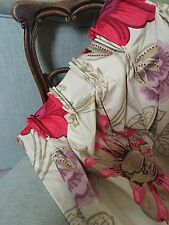 SHOW HOME BESPOKE HIGH END DESIGNERS GUILD AMALIENBORG FLORAL PINK GOLD CURTAINS