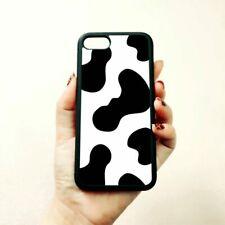 Cow Print Silicone Phone Case White Black Case For iPhone 11 pro max 5s SE 6s 7