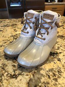 Sperry Women's Salt Water Ankle Rain Duck Boots Size 6.5 EUC