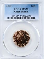 2020 Gold Sovereign BU PCGS MS70 Great Britain UK