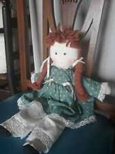 Cloth Rag Doll 14� Tall Red / Ginger Hair