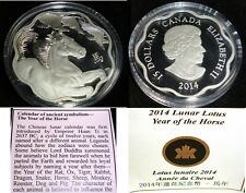 Canada 2010  $15  YEAR OF THE TIGER Lunar Lotus SILVER COIN