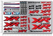 S1000XR motorcycle premium stickers decals set bmw s1000 XR motorrad wheel