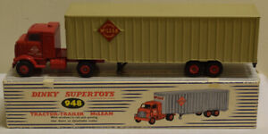 DINKY 948 TRACTOR TRAILER MCLEAN, EXCELLENT MODEL W/ EXCELLENT BOX!