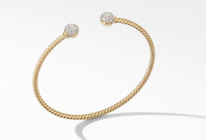 Classic David Yurman Bracelet with 18K Yellow Gold with Diamonds
