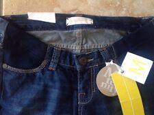 "BNWT Moto Topshop Maternity Dark Denim Blue Boy Fit Jeans Size 8 L 32"""