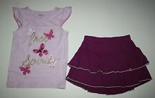 New Gymboree ButterflyTank Top & Purple Ruffle Skort/Skirt Set 7 Spice Market