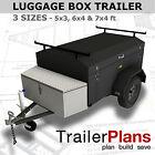 Trailer Plans - ENCLOSED LUGGAGE TRAILER - PRINTED A3 HARDCOPY - Trailer Build