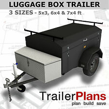 Trailer Plans - ENCLOSED LUGGAGE TRAILER - PRINTED A3 HARDCOPY - Trailer Build
