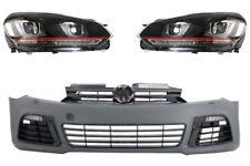 Paraurti Anteriore Golf VI 6 2008-2013 R20 LOOK con fari 3D LED DRL