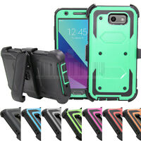 For Galaxy J3 Emerge/J3 2017 Kickstand Belt Clip Case Hard Full Protective Cover