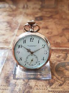 alte 800 Silber Arno Reichenbach Altenburg S/A Taschenuhr mit 15 Rubine Uhrwerk