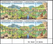 Lesotho 1989 Maloti Mountains/Waterfall/Aloes/Plants/Nature 4v s-t blk (n17064)