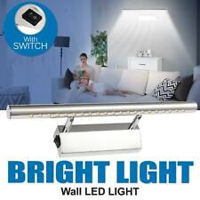 7W White Mirror Wall Light 5050 21 SMD LED Home Picture Front Lighting Lamp UK