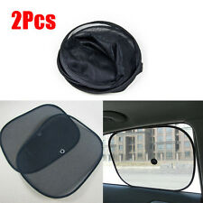 02x Black Kids Baby Children Car Window UV Protection Blind Mesh Sun Shades Twin