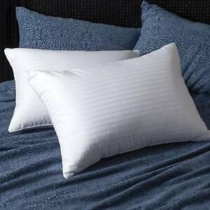 UK Best Pillows Quilted Luxury Ultra Loft Jumbo Super Bounce Back Pillows Pack-2