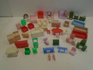 Doll House Furniture Lot of 47 - Vintage