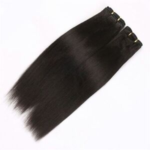 PREMIUM SILKY 100% REAL WEFT/ WEAVE HUMAN HAIR EXTENSIONS100g PER PACK UK SELLER