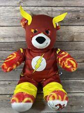 "Build-A-Bear BAB The FLASH Plush DC Comics Justice League & Outfit RARE 16"""