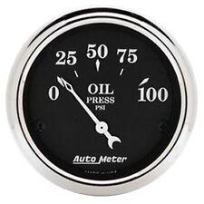 AutoMeter 1727 Old Tyme Black Oil Pressure Gauge