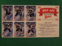 SET OF 4 SHEETS OF 1999 NASHVILLE PREDATORS WENDY'S/PACIFIC HOCKEY CARDS