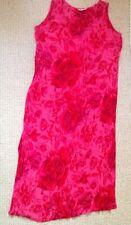 Berketex señoras de largo Maxi vestido del tamaño 12 Summer impresión floral Rosa Rojo