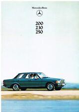 MERCEDES BENZ W123 200 230 250 SALOON ORIGINAL 1980 FACTORY UK SALES BROCHURE