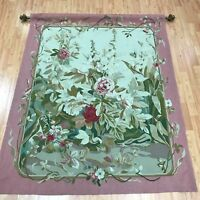 """4'2"""" x 5'1"""" Hanging Chinese Tapestry - Hand Made - 100% Wool"""