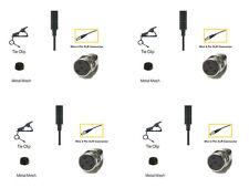 4 pcs Pro Lapel Microphone Lavalier Mic for Shure Wireless L1 LX1 SC1 U1 UT1 PG